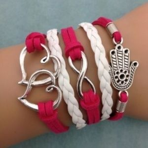 Hearts Infinity Love Fashion Bracelet Gift-H68